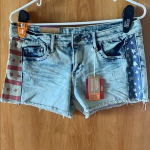 NWT Patriotic Jean Shorts